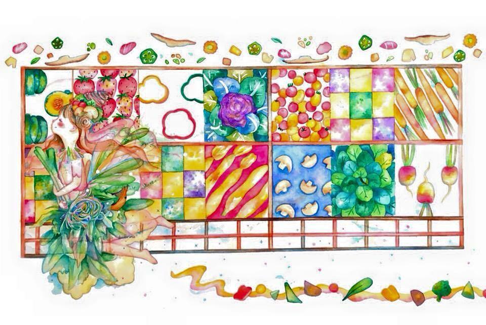 新しいなっぱ畑をイメージして かわいい野菜の絵ができました(。-_-。) 森泉さんありがとうございます