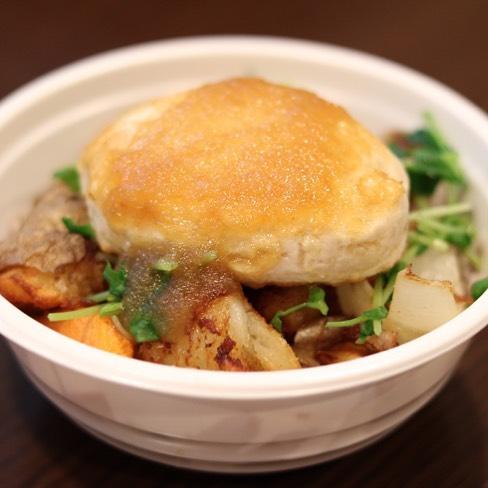 ヘルシーなお豆腐のハンバーグ丼 780円 . お電話で事前に注文していただくと スムーズにお渡しできます