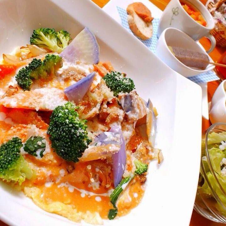 野菜のオムライス なっぱ畑人気のメニューです(╹◡╹)