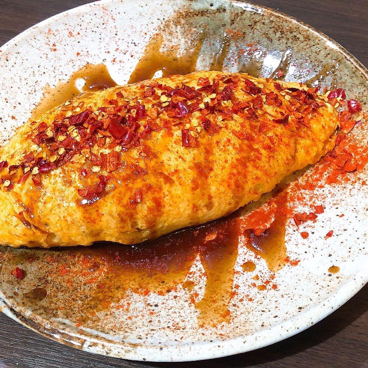 激辛メニュー🌶 オム焼きそば🥵 ポテト🥵 蟹の🦀激辛パスタ