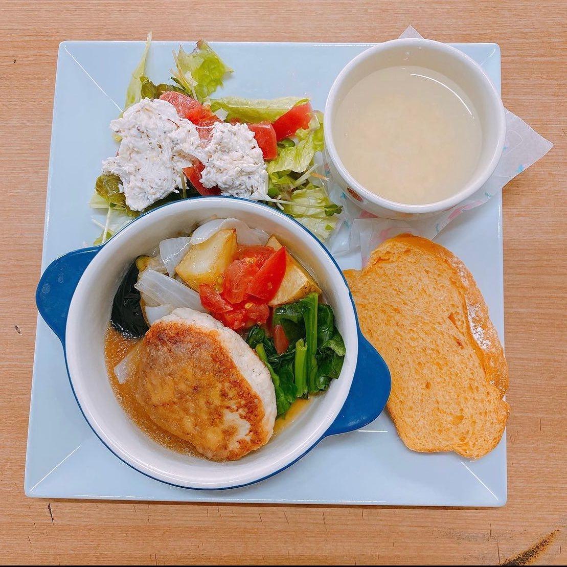 豆腐ハンバーグ プレートランチ(//∇//)